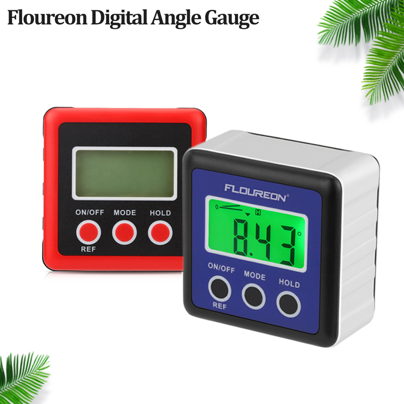 Battery Included Digital LCD Protractor Inclinometer Angle Finder Angle Gauge Inclinometer Level Box with Magnetic Base