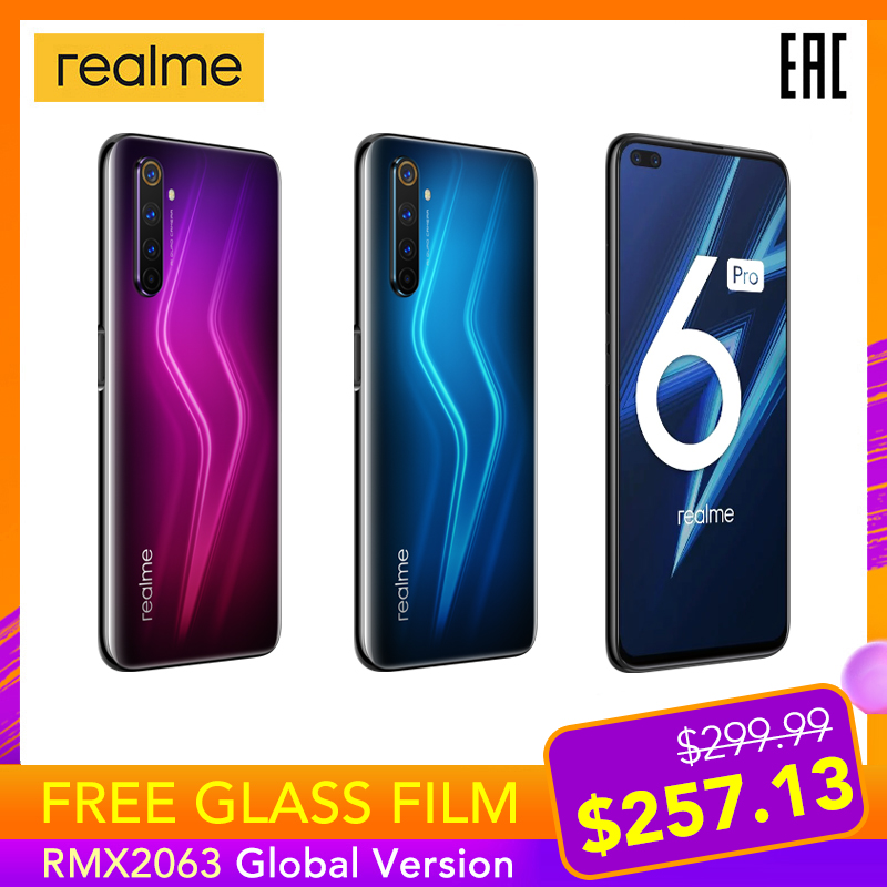 Realme 6 Pro 6pro Globale Version 8GB RAM 128GB ROM 90Hz Display Snapdragon 720G 30W schnelle Ladung 64MP Kamera NFC Play Store