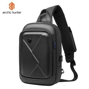 Image 1 - ARCTIC HUNTER New mens chest bag shoulder bag casual Messenger bag youth business travel large capacity multi function bag