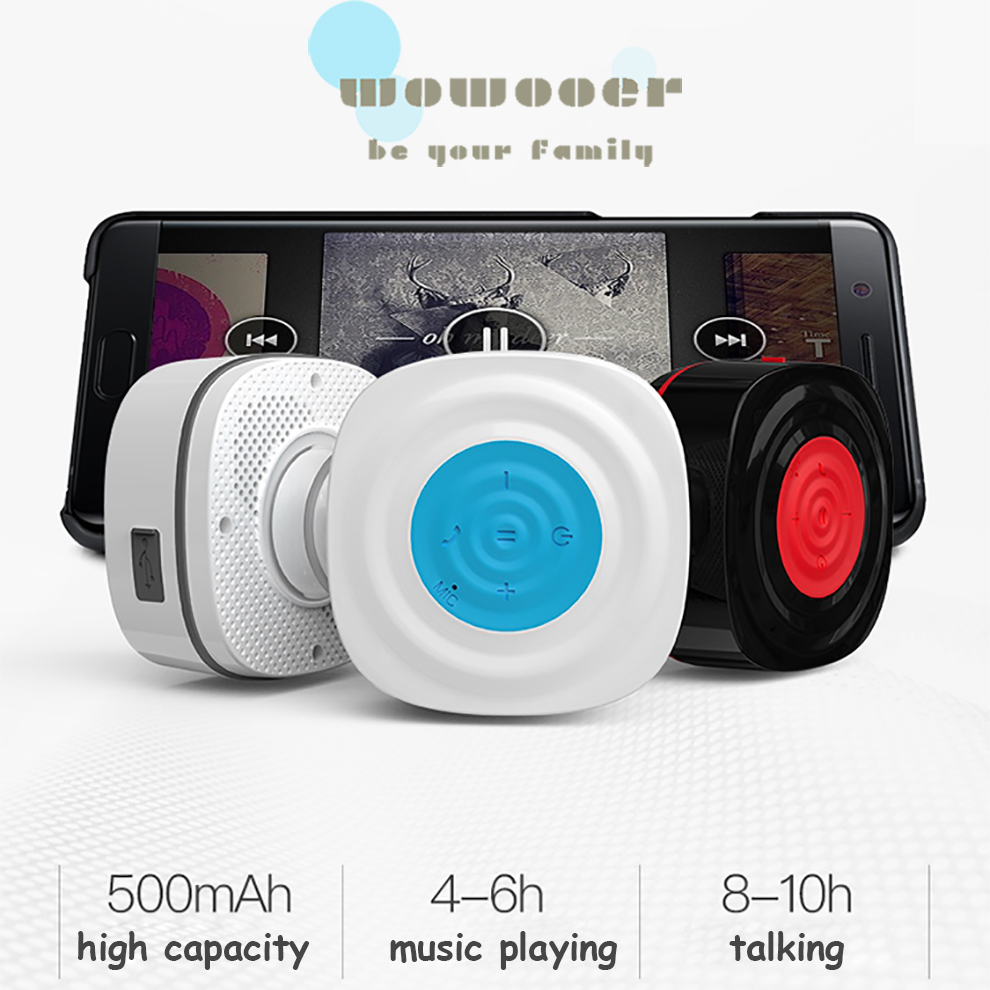 retro bluetooth speaker mobile phone holder sabwofer for Shower glass mirror Pool mic strong double Suction cup for Tablets