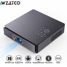 Wzatco s5 portátil mini dlp projetor 3d 4k 5g wifi inteligente android para beamer de cinema em casa completo hd 1080p vídeo laser proyector