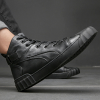 2019 Autumn And Winter Men casual shoes Hip hop highloafers spring autumn men moccasins shoes genuine leather men's flats shoes