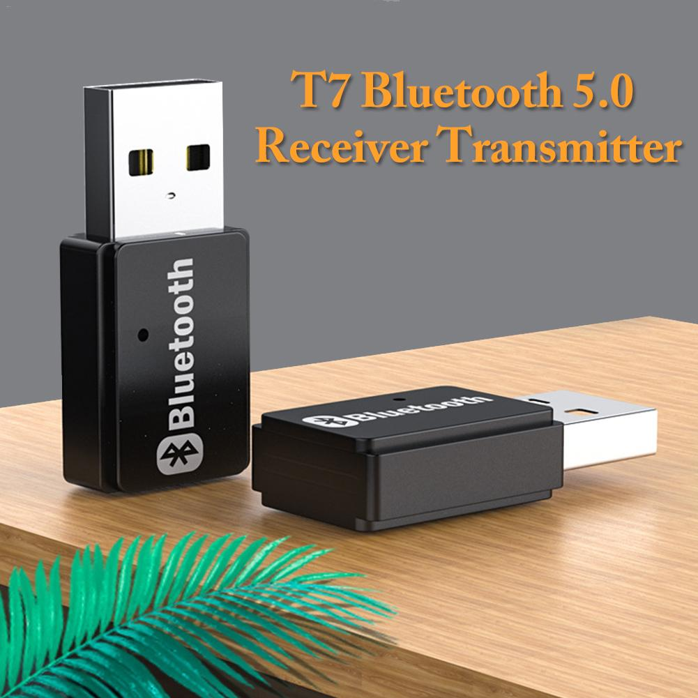 2 In 1 USB Bluetooth 5.0 Adapter Audio Transmitter Bluetooth Receiver Mini USB Bluetooth Dongle Wireless Adapter For Computer PC