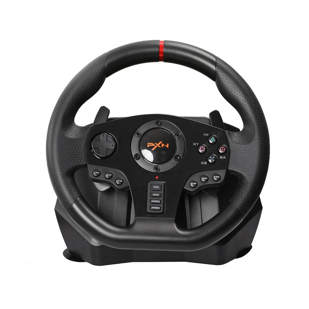 Gaming Steering Wheel Pedal PXN V900 Gamepad Racing Game Steering Wheel Pedal Vibration For PC PS3 4 Xbox-One Xbox  Switch 90