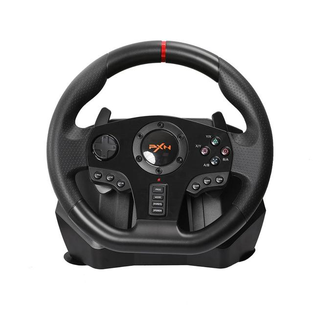 Gaming Steering Wheel Pedal PXN V900 Gamepad Racing Game Steering Wheel Pedal Vibration For PC/PS3/4/Xbox One/Xbox /Switch 90°
