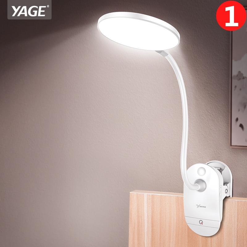 18650 LED Touch Switch Clip Desk Lamp Protezione degli occhi Lettura Dimmer Lampade da tavolo a led USB ricaricabili 3 modalità