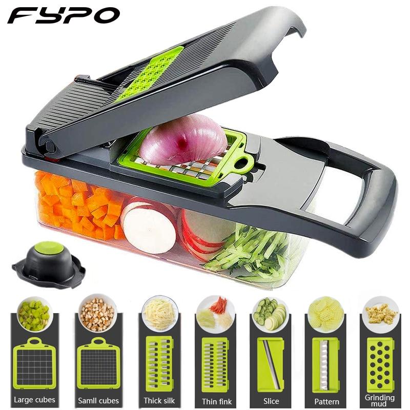 Mandoline Vegetable Fruits Tool Grater Cutter Shredder Garlic Meat Chopper Carrot Potato Slicer Salad Maker Kitchen Gadgets 1
