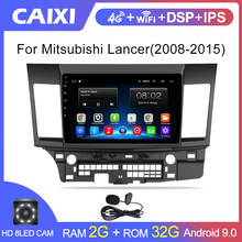 Android 9.0 Mobil Radio Multimedia Player untuk Mitsubishi Lancer 2008-2009-2010 2016 Video Audio 2 DIN 10 Inch mobil Pemutar DVD(China)