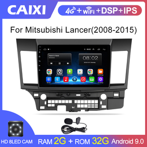 Android 9.0 Car Radio Multimedia player for Mitsubishi lancer 2008 2009 2010-2016 video audio 2 din 10 inch car dvd player(China)