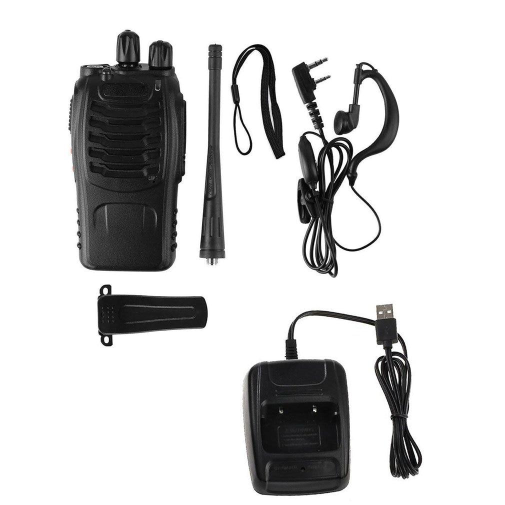 USB Charging  Baofeng BF-888S UHF 400-470 MHz 2-Way Radio Twee  16CH Walkie Talkie With Mic FM Transceiver