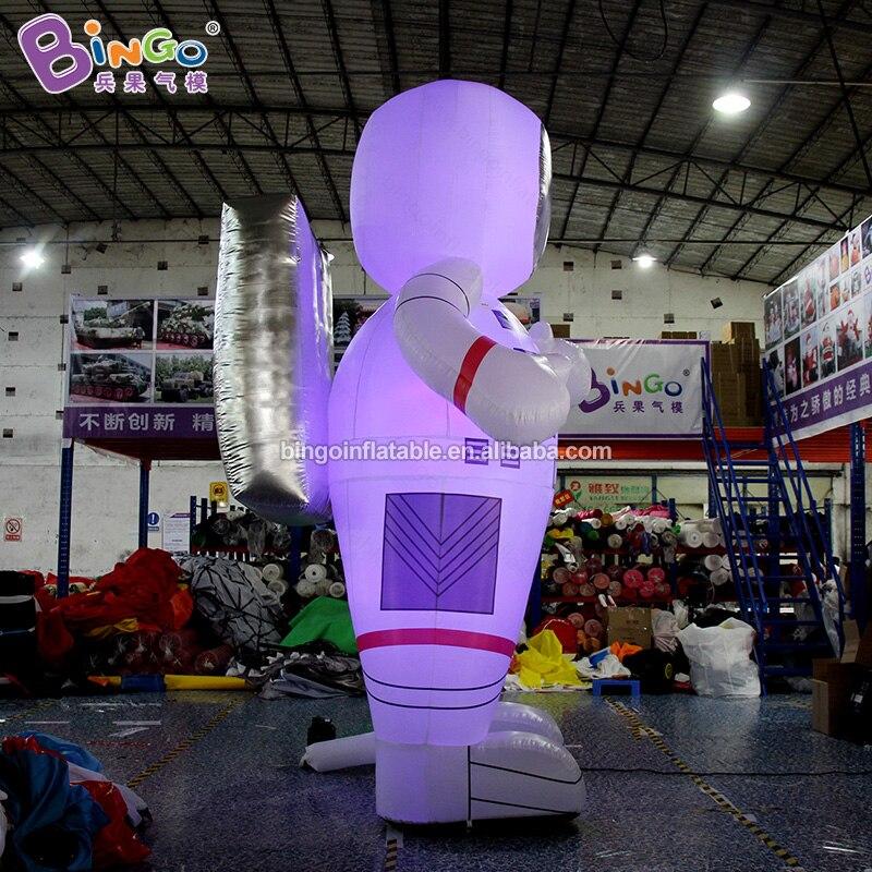 Индивидуальный заказ 13 футов надувные светильники астронавт/светодиодный надувная игрушка астронавт Спорт - 5