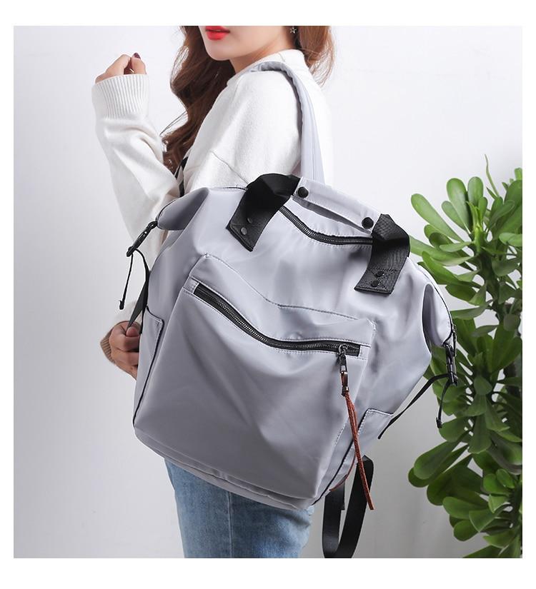Haa420e3ee5884f898a1771810b6373e5U Casual Nylon Waterproof Backpack Women High Capacity Travel Book Bags for Teenage Girls Students Pink Satchel Mochila Bolsa 2019