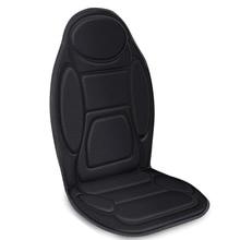 Массажная подушка для сиденья автомобиля-6 вибрирующих массажных узлов и 3 грелки, массажер для спины автомобиля с подогревом, чехол для подогревателя сиденья для автомобиля Tru