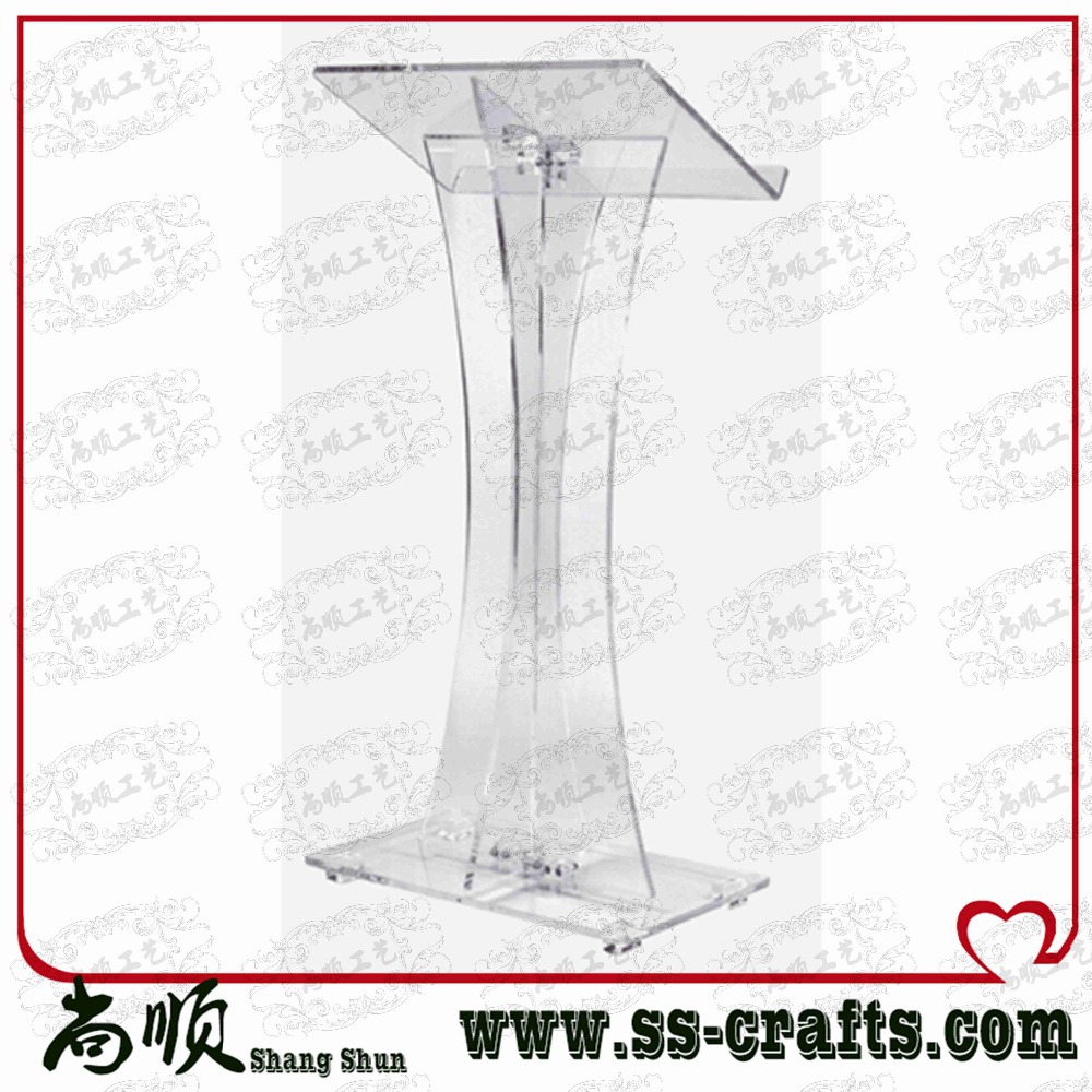 Direct Sale Custom Transparent Plexiglass Acrylic Lectern Plexiglass