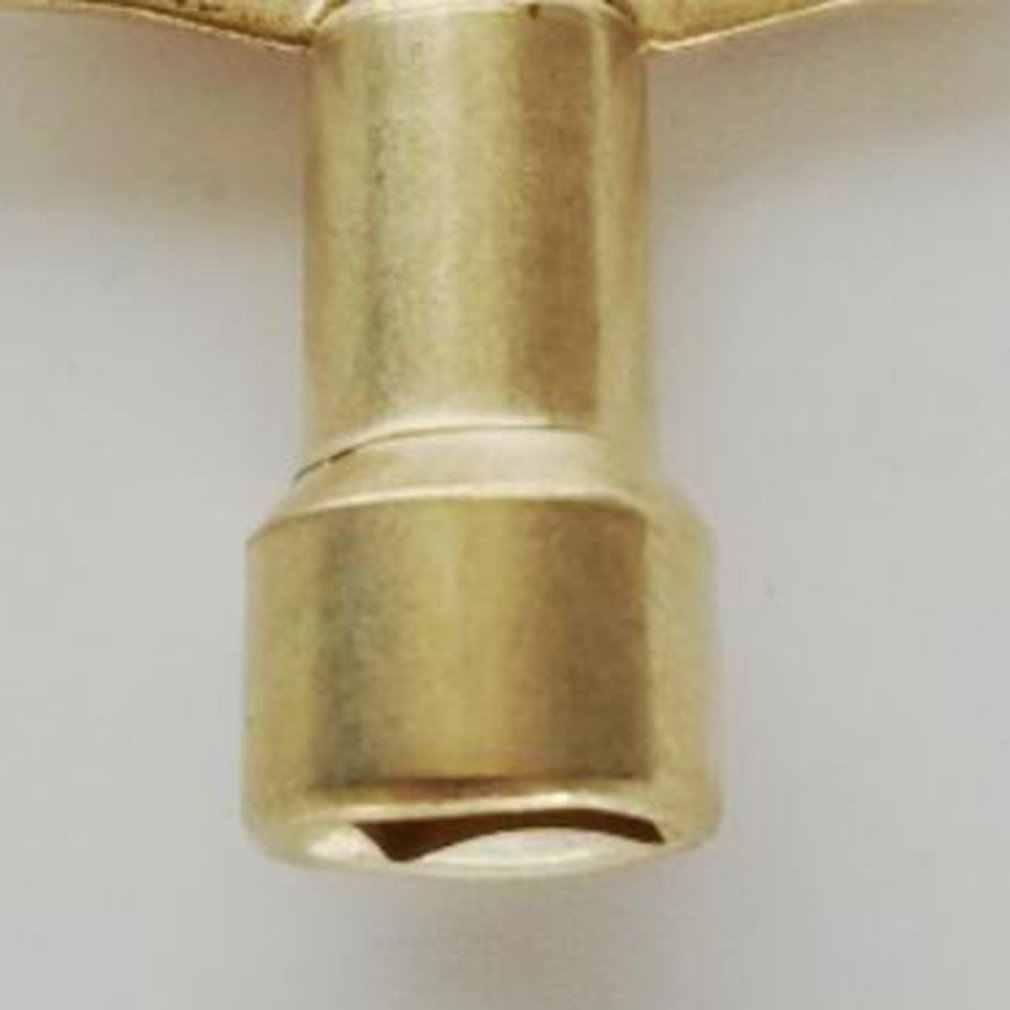 プロフェッショナルゴールドトーン金属水タップノブスイッチ蛇口鍵ラジエーターバルブキー水道メーターバルブキーキャビネットキー