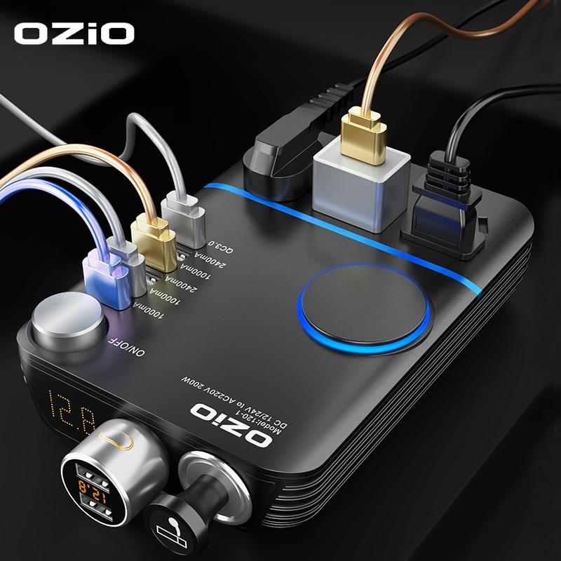 200W Auto Power Zigarette Leichter Inverter DC 12V Zu AC 220V Konverter Ladegerät Adapter Transformator Leichter Buchse USB Ausgang