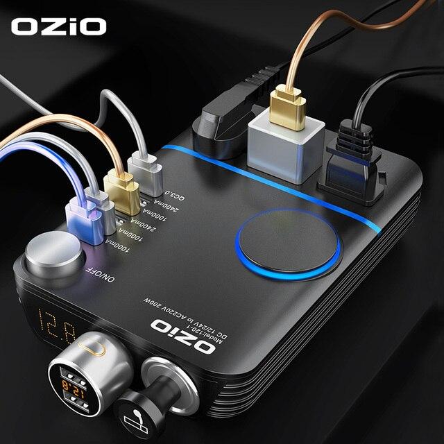 200W Car Power Cigarette Lighter Inverter DC 12V To AC 220V Converter Charger Adapter Transformer Lighter Socket USB Output
