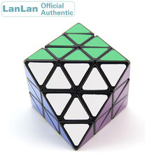 LanLan 8 Axis Octahedron Skewbed Magic Cube Diamond Professional Speed Puzzle Antistress Fidget Educational Toys For Children