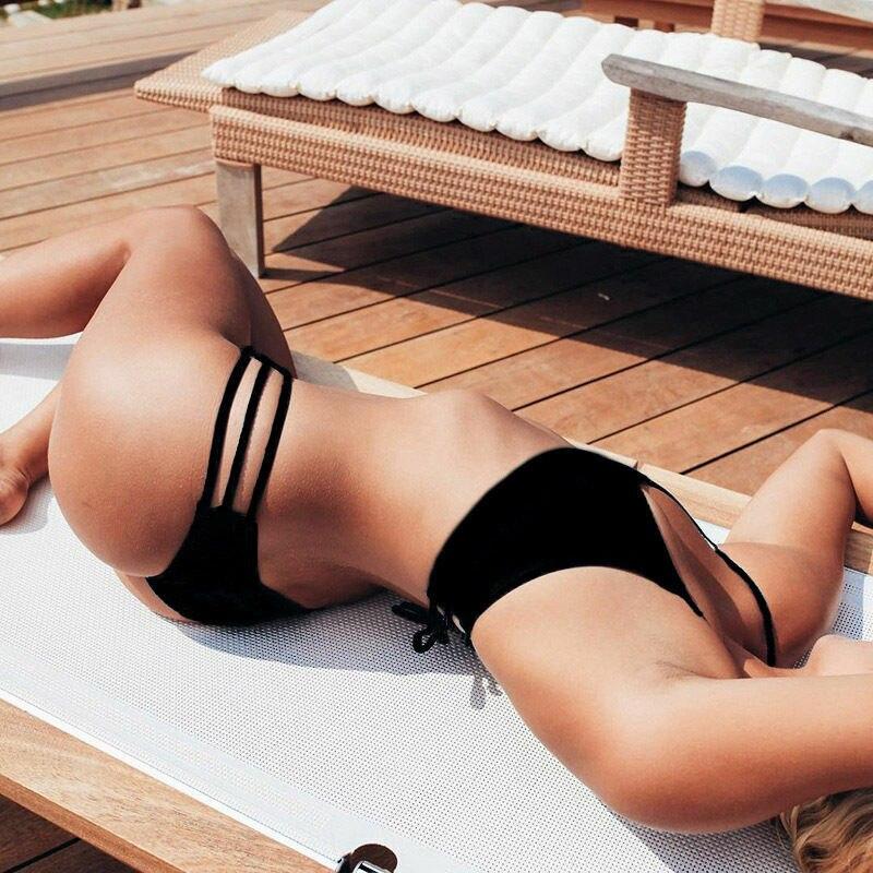 Сексуальные женские плавки, сдельные бикини шорты, короткие стринги, бразильские плавки, купальный костюм, трусики, нижнее белье