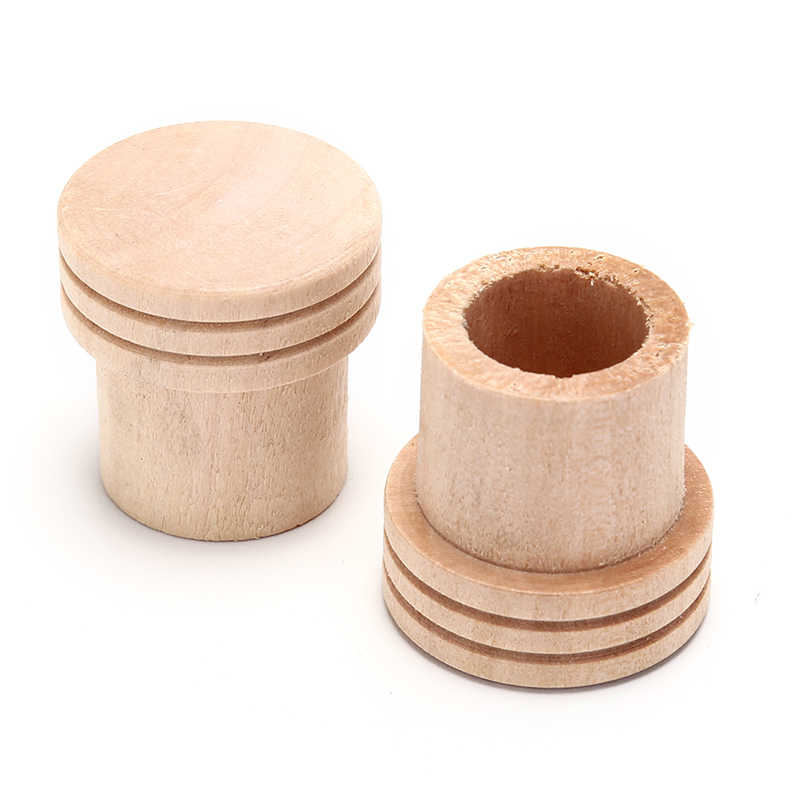 1pcs Wooden Moxa Extinguisher Roller Roll Holder Stick Moxibustion Device Massage Box Smokeless Acupuncture Artemisia