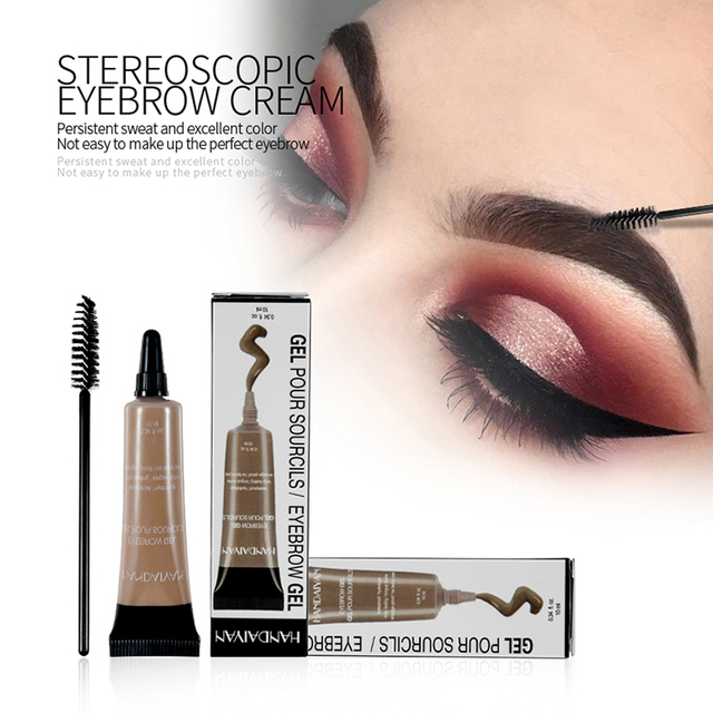HANDAIYAN 10ml Eyebrow Cream Tattoo Pen with Brush Kit Waterproof Women Makeup Eyebrows Tint Enhancer Gel Eye Brow Dye Cosmetics 1