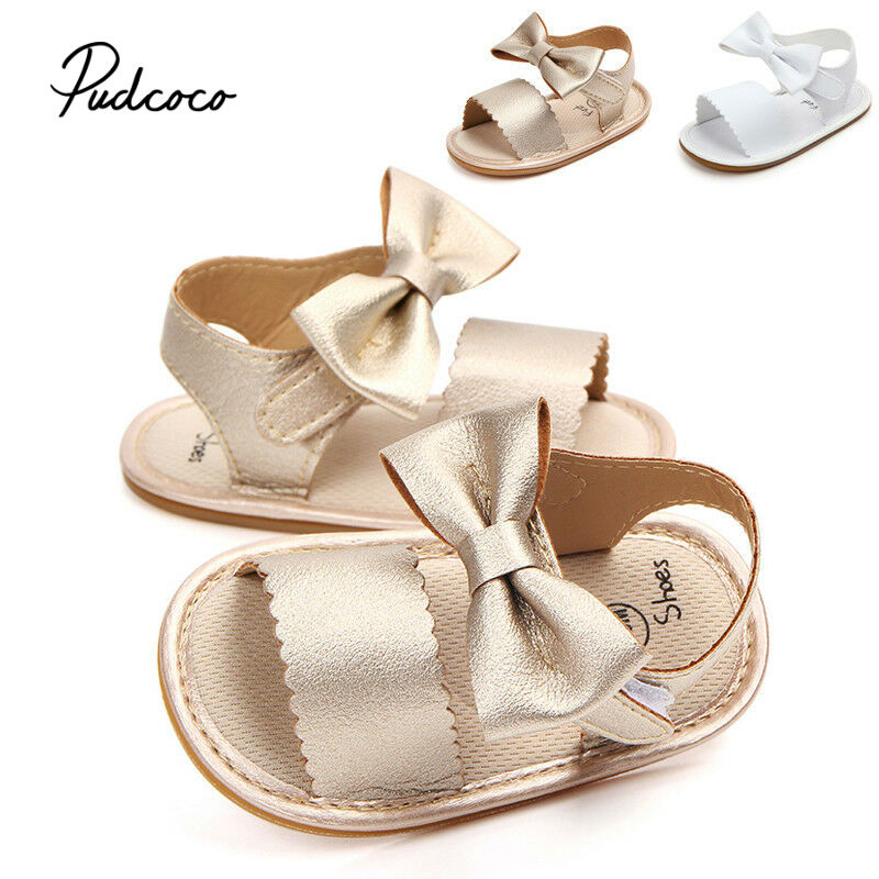 2019 New Children Girls Sandals PU Leather Children's Sandals Girls 0-18 Months Bow Princess Shoes Girls Summer Shoes