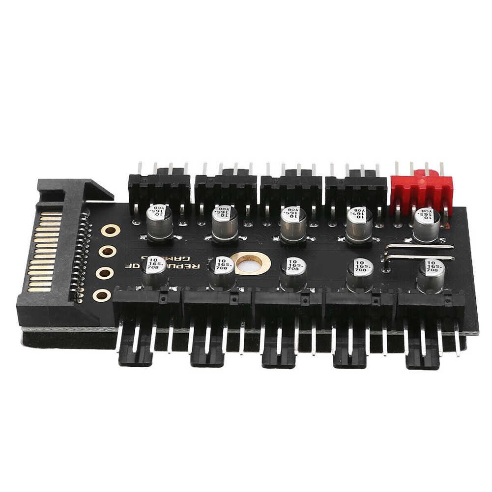 Подключение к компьютеру Вентилятор охлаждения концентратор 4 Pin Скорость контроллер самоклеющиеся сплиттер адаптер Запчасти PWM от 1 года до 10 способ материнская плата