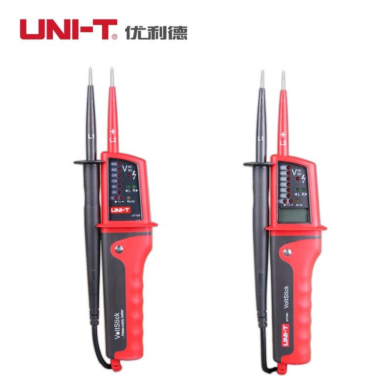 UNIT-T UT15B UT15C водонепроницаемые цифровые детекторы напряжения ручка пчеловодческий Трехфазный AC PhaseToOpen многофункциональная тестовая ручка А...