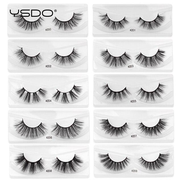 YSDO Mink Lashes Wholesale 5/10/20/100 Pairs 3D Mink Eyelashes Faux Cils Makeup Dramatic False Eyelashes In Bulk Natural Lashes 3
