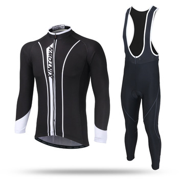 New Winter Cycling Jersey Men's Thermal Fleece Jersey Suit Outdoor Riding Bike Bib Pants Set Pro Team Ropa Maillot Ciclismo