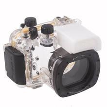 Meikon Onderwater Duiken Camera Waterdichte Behuizing Case Voor Canon G15 als WP-DC48