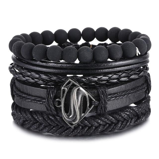Vintage Black Bead Bracelets For Men