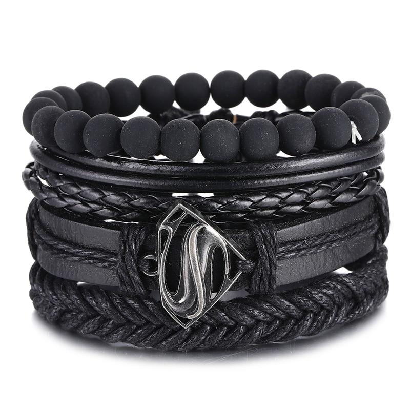 IFMIA винтажные черные браслеты с бусинами для мужчин модные полые треугольные кожаные браслеты и браслеты Многослойные широкие ювелирные изделия 2020 Цепочки и браслеты      АлиЭкспресс - Топ аксессуаров с Али