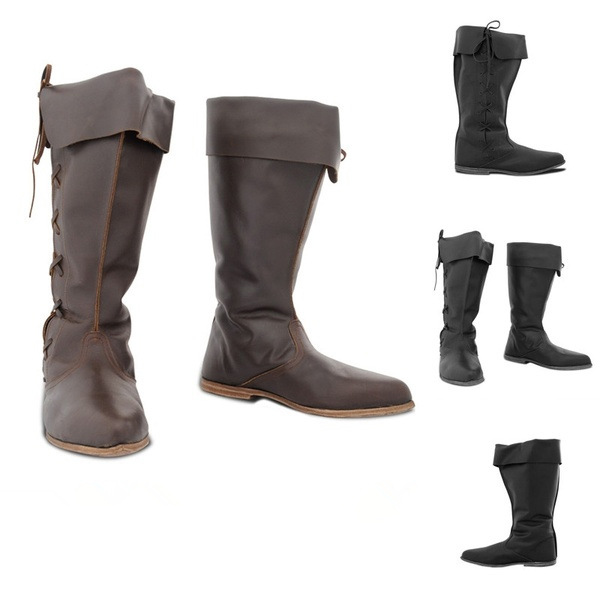 Medieval Viking Tudor Cosplay Boots Shoes Festival Larp Shoes Renaissance Medieval Knight Pirate Cosplay Shoes Boots For Men