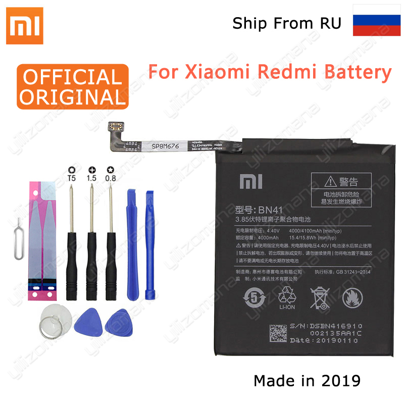 Xiaomi Phone-Battery Replacement-Batteries BN43 Note-4 BN41 BM46 BM47 BM22 Original