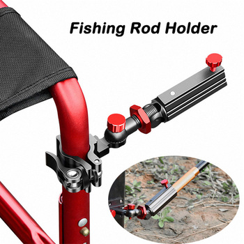 Fishing Rod Holder Aluminum Magnesium Alloy Universal 360Adjustable Snap Fixed Fish Chair Rod Rack Fishing Accessories