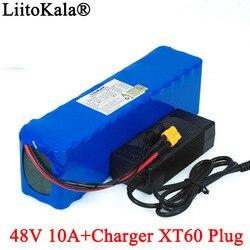 LiitoKala e-bike akumulator 48v 10ah 18650 akumulator litowo-jonowy zestaw do konwersji roweru 1000w XT60 wtyczka + 54.6v 2A ładowarka