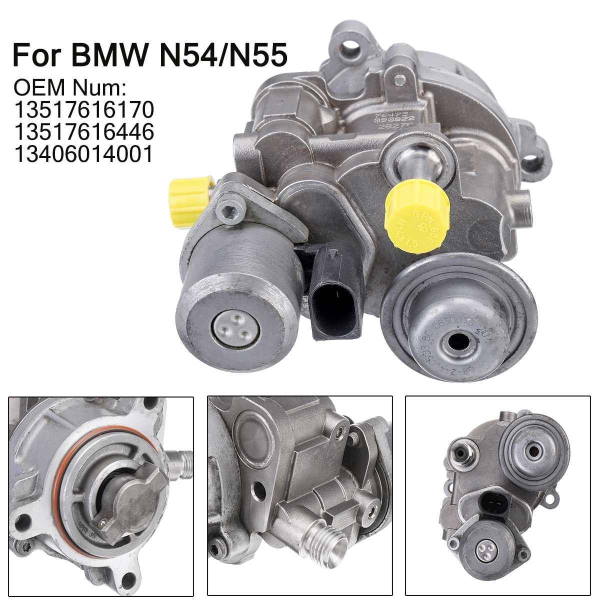 Yüksek basınçlı yakıt pompası 13517616170 13517616446 13406014001 BMW için N54/N55