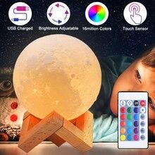 3d usb светодиодный ночник в виде Луны романтический светильник