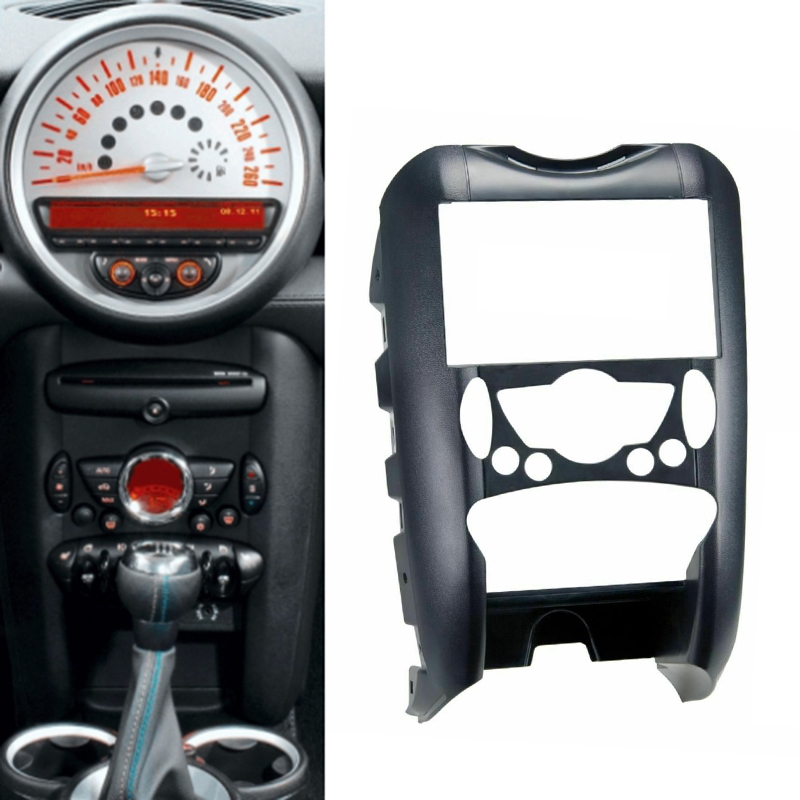 2 Din Car Radio DVD Player Fascia Frame for-BMW Mini Cooper R55 R56 R57 Trim Panel Installation Kit