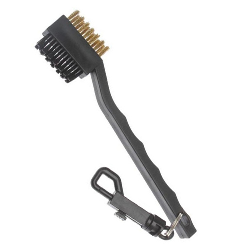 Golf Double-Sided Cleaning Brush Durable Plastic Soft Comfortable Zipper Wire Groove Cleaning Tool Gof Accessories