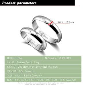 Image 2 - Eenvoudige Huwelijk Engagement Ring 100% 925 Massief Zilveren Paar Ring Vrouw & Man Enkele Ring Groothandel Massief Zilveren Sieraden Gift