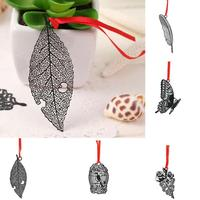 Chinese Traditional Style Bookmarks Diy Kawaii Butterfly Bird Cage Feather Flower Metal Bookmark For Book Creative Stationery|  -