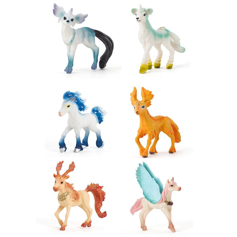 Mythical Vivid Simulated Animal Horse Model Plastic Action Figure Learning Educational Toy Realistic Cake Jewelry Decoration