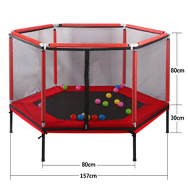 Trampoline children s home trampoline parent child interactive game fitness trampoline with safety net baby care