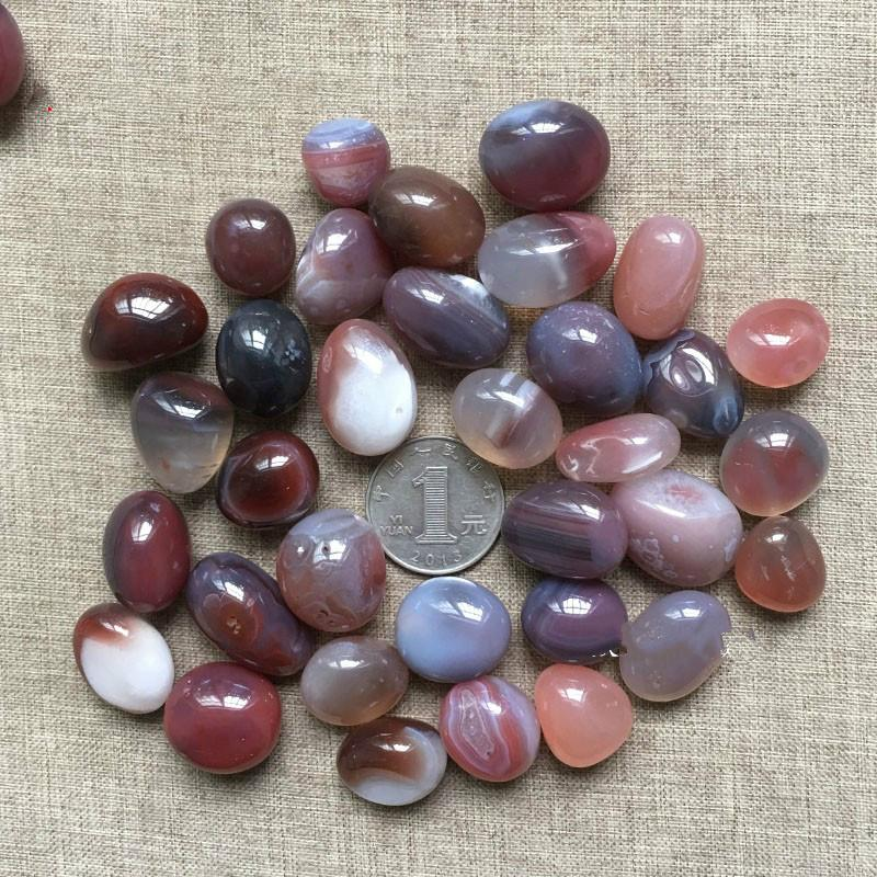 100g natural red agate gravel small round crystal stone original energy