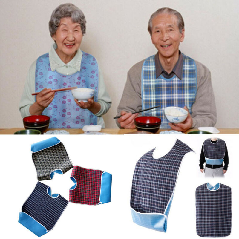 Cotton1 Pcs Large Waterproof Adult Mealtime Bib Clothes Clothing Protector Aprons Eating Accessory