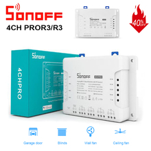 SONOFF 4CH R3/PRO R3 Wifi Light Switch Remote 433 Mhz RF Smart Home Controller 4