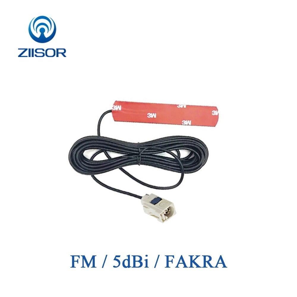 Car Vehicle Auto FM Radio Patch Antenna FAKRA 5dBi High Gain Omnidirectional Antena For Broadcasting  Feeder 3m Z132-BFMFA30