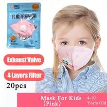 Maska punktowa maski na usta z zaworem dla dzieci dzieci filtr przeciwkurzowe PM2.5 higiena ochronna Respirator tapabocas